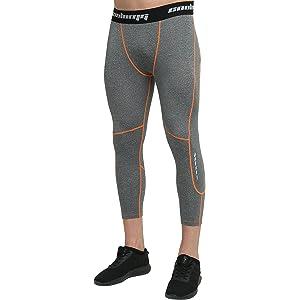 f3d0d71171ccd COOLOMG Compression Pants Running Tights 3/4 Capri Shorts Leggings  Baselayer Quick Dry