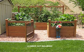 Amazoncom Just Add Lumber Vegetable Garden Kit 8x12 Deluxe