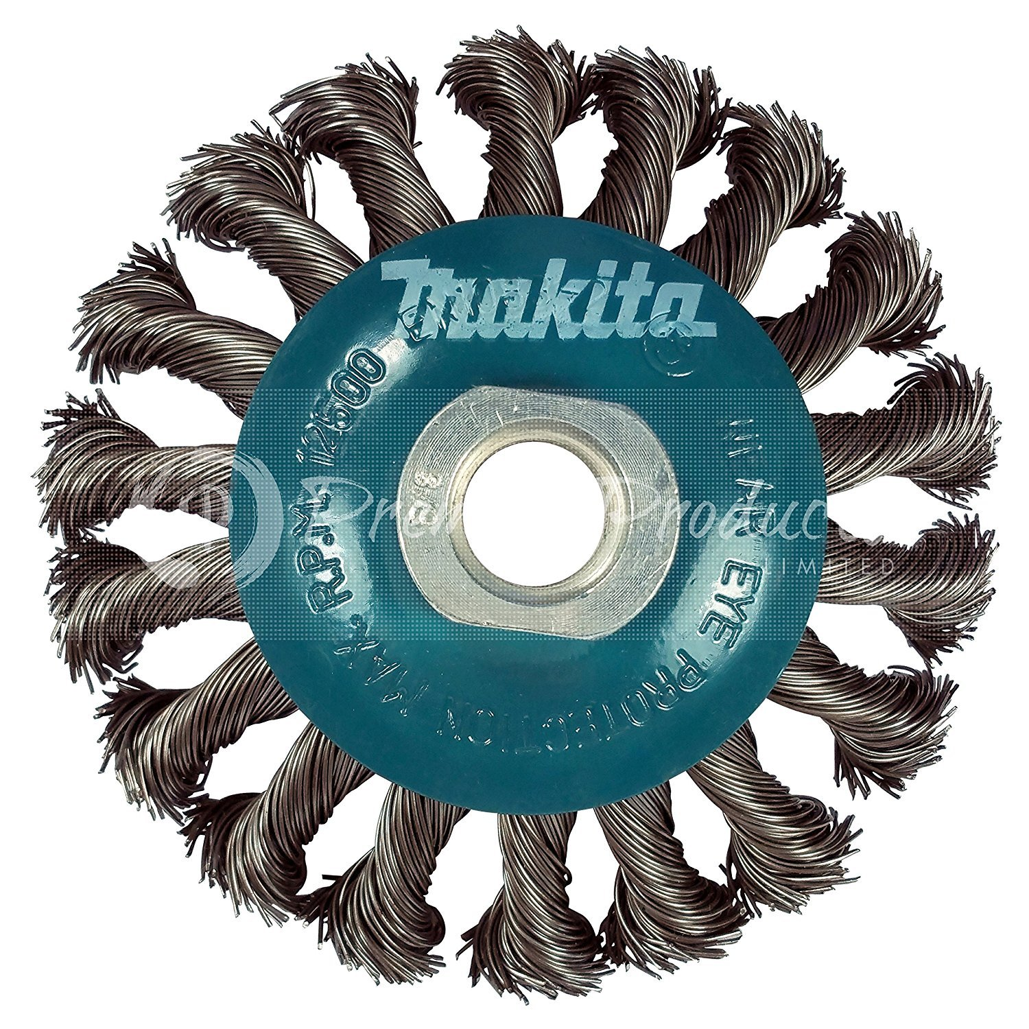 Makita 1 Piece - 4 1 2 Knotted Twist Wire Wheel Brush For Grinders - Heavy-Duty Conditioning For Metal - 4 1/2'' x 5/8-Inch | 11 UNC