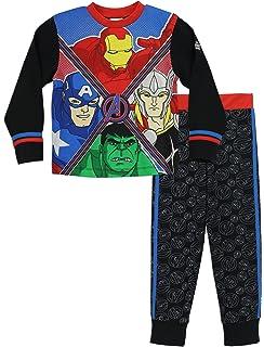 Marvel Avengers - Pijama para Niños - Hulk, Thor, Iron Man y Capitán América