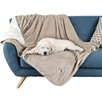 """PETMAKER Waterproof Pet Blanket-50""""x60"""" Soft Plush Throw Protects Couch, Chairs, Car, or Bed from Spills, Stains, or Fur-Machine Washable by (Tan)"""