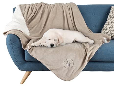 PETMAKER Waterproof Pet Blanket 50u201dx60u201d Soft Plush Throw Protects Couch,  Chairs