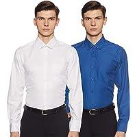 Diverse Men's Printed Slim Fit Formal Shirt (Combo Pack of 2)