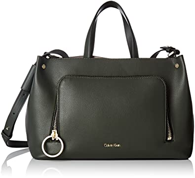 6caa52210 Calvin Klein Women's Natasha Tote Top-Handle Bag Multicolour Multicolore  (Ivy/Mushroom)