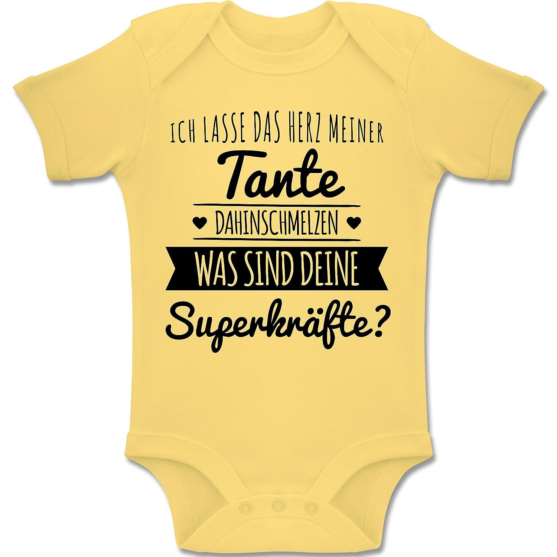 Shirtracer Spr/üche Baby Baby Body Kurzarm Jungen M/ädchen Tante Herz dahinschmelzen