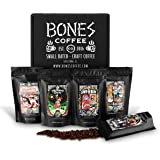 Bones Coffee Favorite Flavors Sample Pack, Flavored Ground Coffee Beans Sampler Gift Box Set, Pack of 5 Assorted…