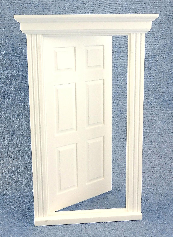 Maison de Poupées Plastique Blanc 6 Panneau Géorgien Porte 1:24 Balance DIY