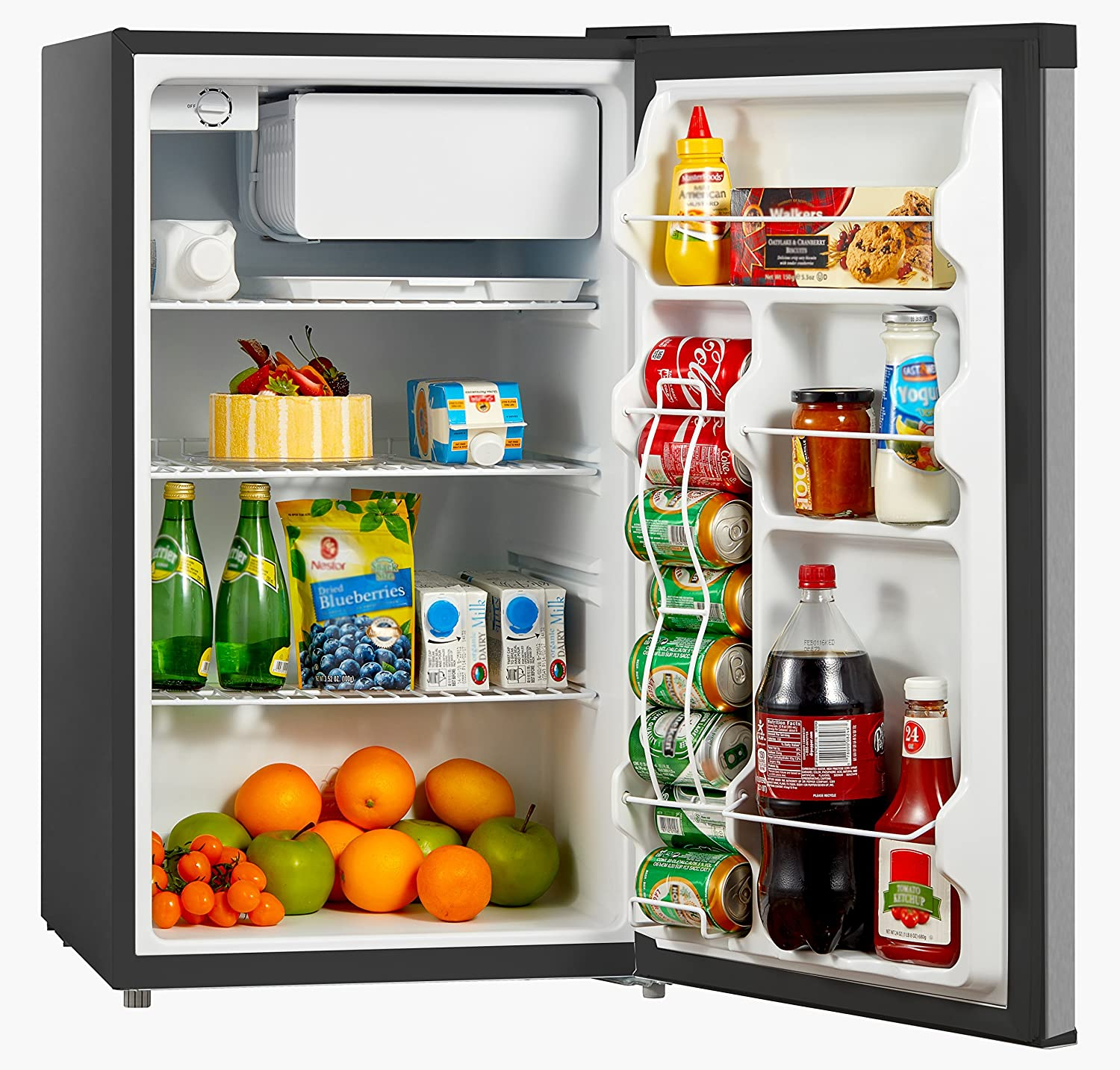 Midea stainless steel compact single reversible door upright freezers - Amazon Com Midea Whs 160rss1 Compact Single Reversible Door Refrigerator And Freezer 4 4 Cubic Feet Stainless Steel Appliances
