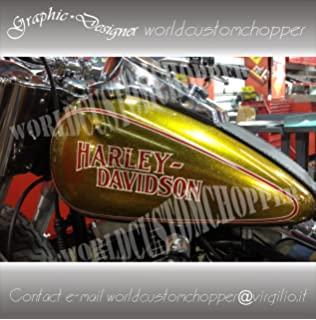 Pair Stickers Sticker Decal Motorcycles HarleyDavidson X Tank - Motorcycle custom stickers and decals uk