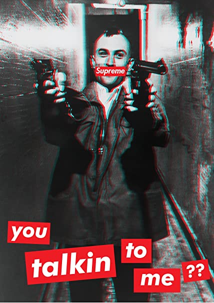 Fotojig Taxi Driver Poster Supreme Small A4 You Talking To Me