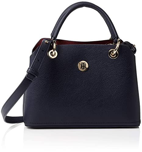 Tommy Hilfiger - Th Core Med Satchel, Bolso Mujer, Azul (Tommy Navy)