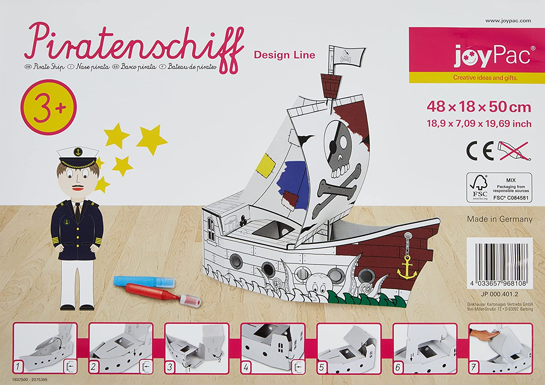 Joypac jp000401.2 Barco Pirata Con Dibujos: Amazon.es: Oficina y papelería