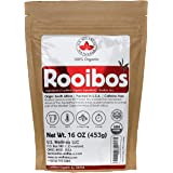 Rooibos Tea 1LB (16Oz) 100% CERTIFIED Organic (USDA seal)   Red Rooibos Loose Leaf Tea   South African Red Bush Herbal Tea  (