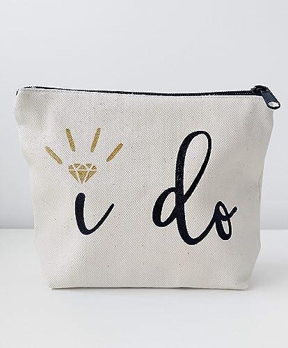 Amazon Bridal Shower Gift Bride Gift I Do Canvas Makeup Bag