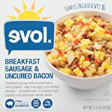EVOL Breakfast Sausage and Uncured Bacon Bowl with
