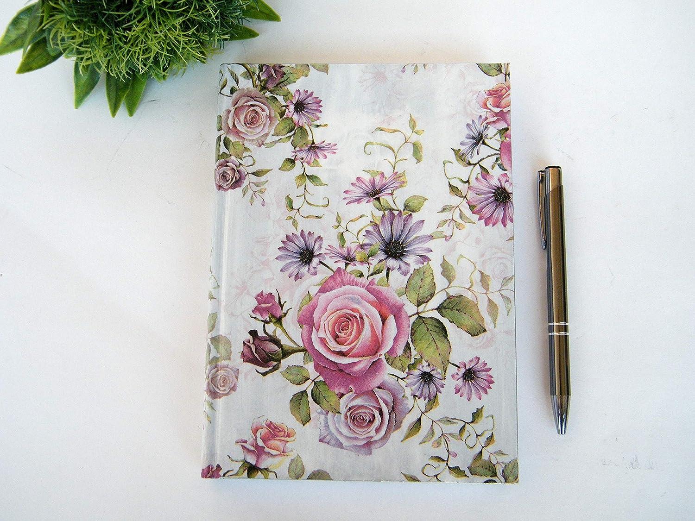 Agenda 2020 Planificador Anual Floral Regalo de Navidad para Ella A5 Vista por Dìa Tapa Dura Rosas Romanticas Diario