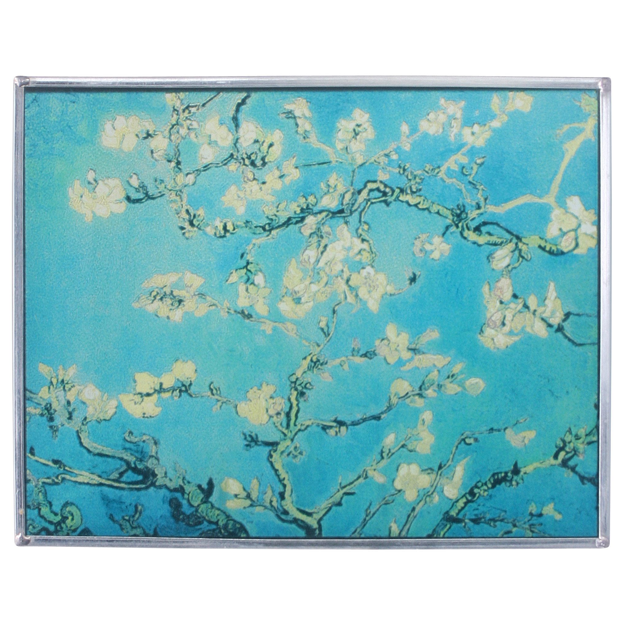 Stained Glass Panel - Van Gogh Almond Blossoms Stained Glass Window Hangings - Art Glass Window Treatments