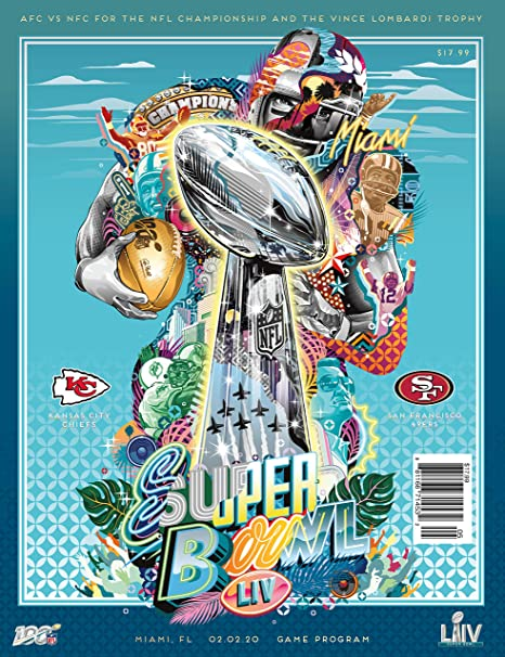 2 Feb Miami Florida Super Bowl 54 LIV 2020 National Edition Programme