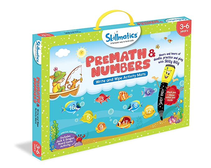 Amazon.com: Skillmatics Educational Game: Premath And Numbers 3-6 Years Multicolour: Toys & Games