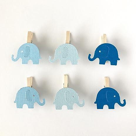 Amazon 12 Blue Elephant Mini Clothespins Baby Shower Decoration