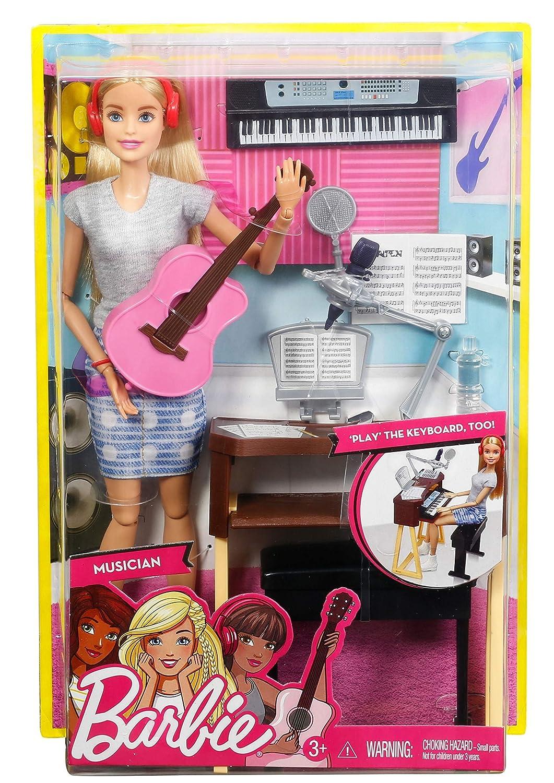Amazon.es: Barbie Quiero Ser Compositora, muñeca rubia con accesorios (Mattel FCP73): Juguetes y juegos