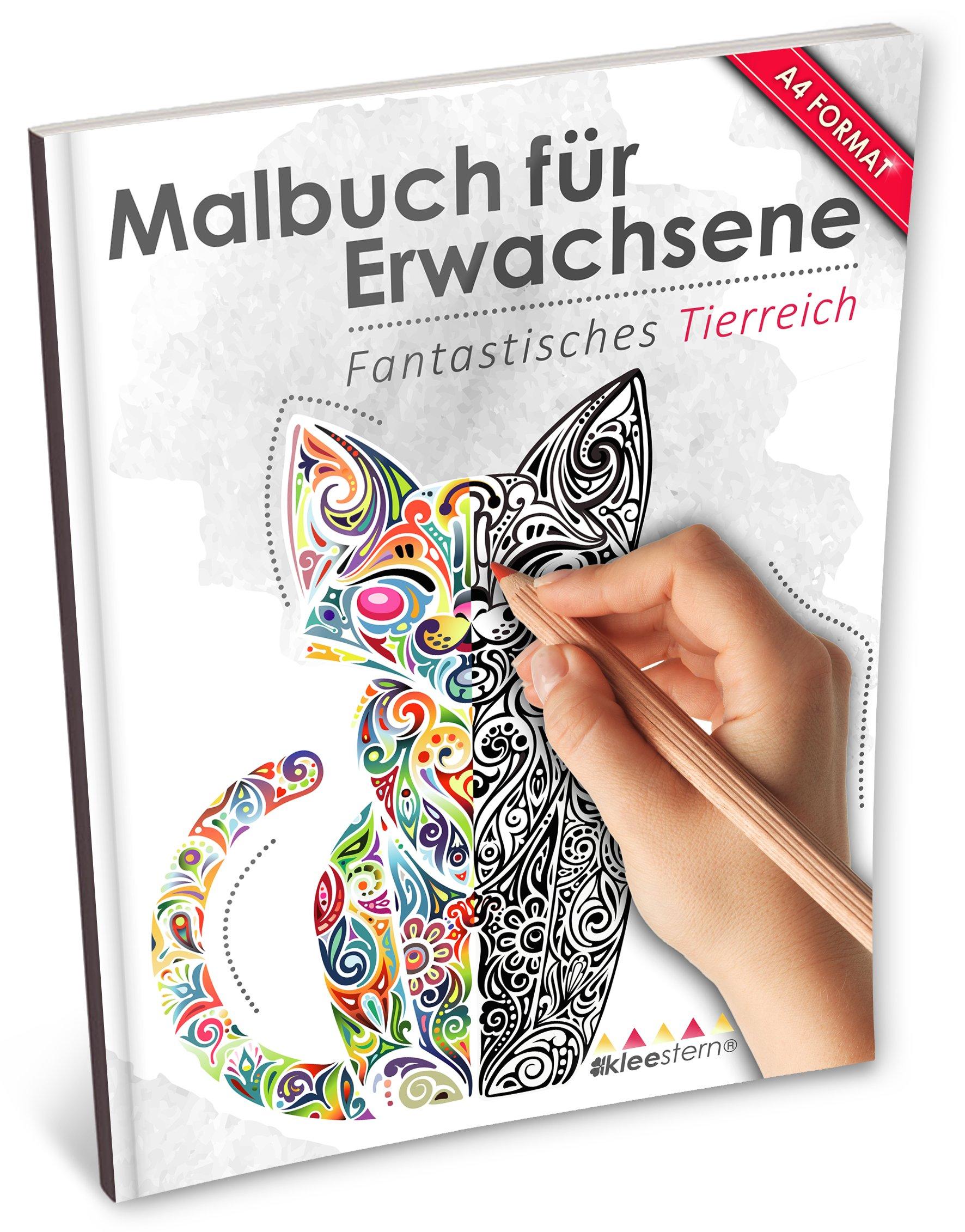 Malbuch für Erwachsene: Fantastisches Tierreich Kleestern®, A4 ...