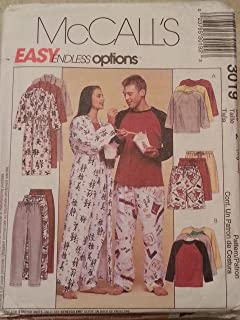 cedd43069da9b McCall s 3019 Sewing Pattern Unisex Robe Top Pants Shorts Pajamas Bust    Chest 42 - 48