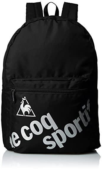 6f196f16a578 Amazon   [ルコックスポルティフ] リュックサック コンパクトバックパック QA-641075 BLK BLK   le coq sportif (ルコックスポルティフ)   メンズ