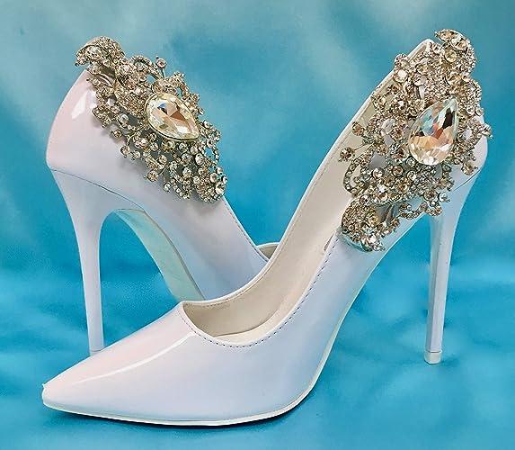 c17824d16b Amazon.com: Wedding Bridal Shoes, Shoe Clips, Rhinestone Crystal Shoe  Accessory: Handmade