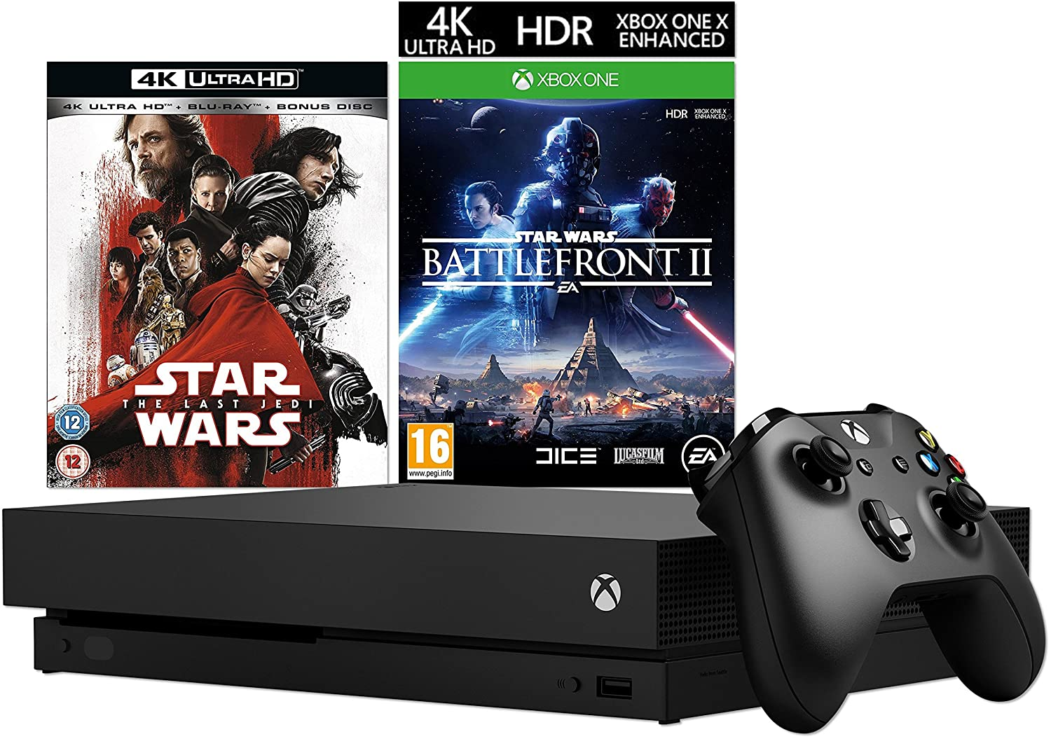uk daily deals xbox one x with star wars the last jedi 4k. Black Bedroom Furniture Sets. Home Design Ideas