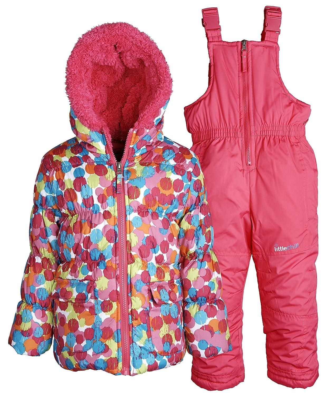 073744ea3 Amazon.com  Baby Girls Snowboard Down Feel Fleece Lined Bubble ...