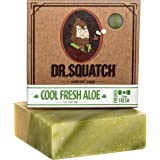 Cool Fresh Aloe Soap for Men – Naturally Refreshing Aloe Vera Soap for Men with Organic Oils – Bar Handmade in USA by Dr. Squ