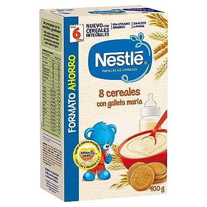 Nestlé Papilla 8 cereales con galleta María, Alimento Para bebés ...