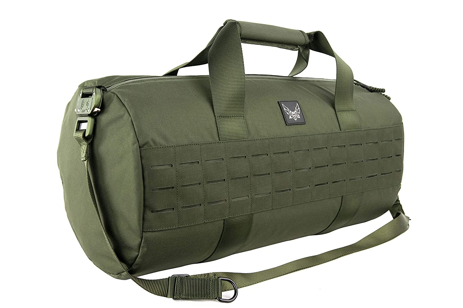 AMG Peruga Medium Military Inspired Duffle Bag with Lazer Cut MOLLE Black