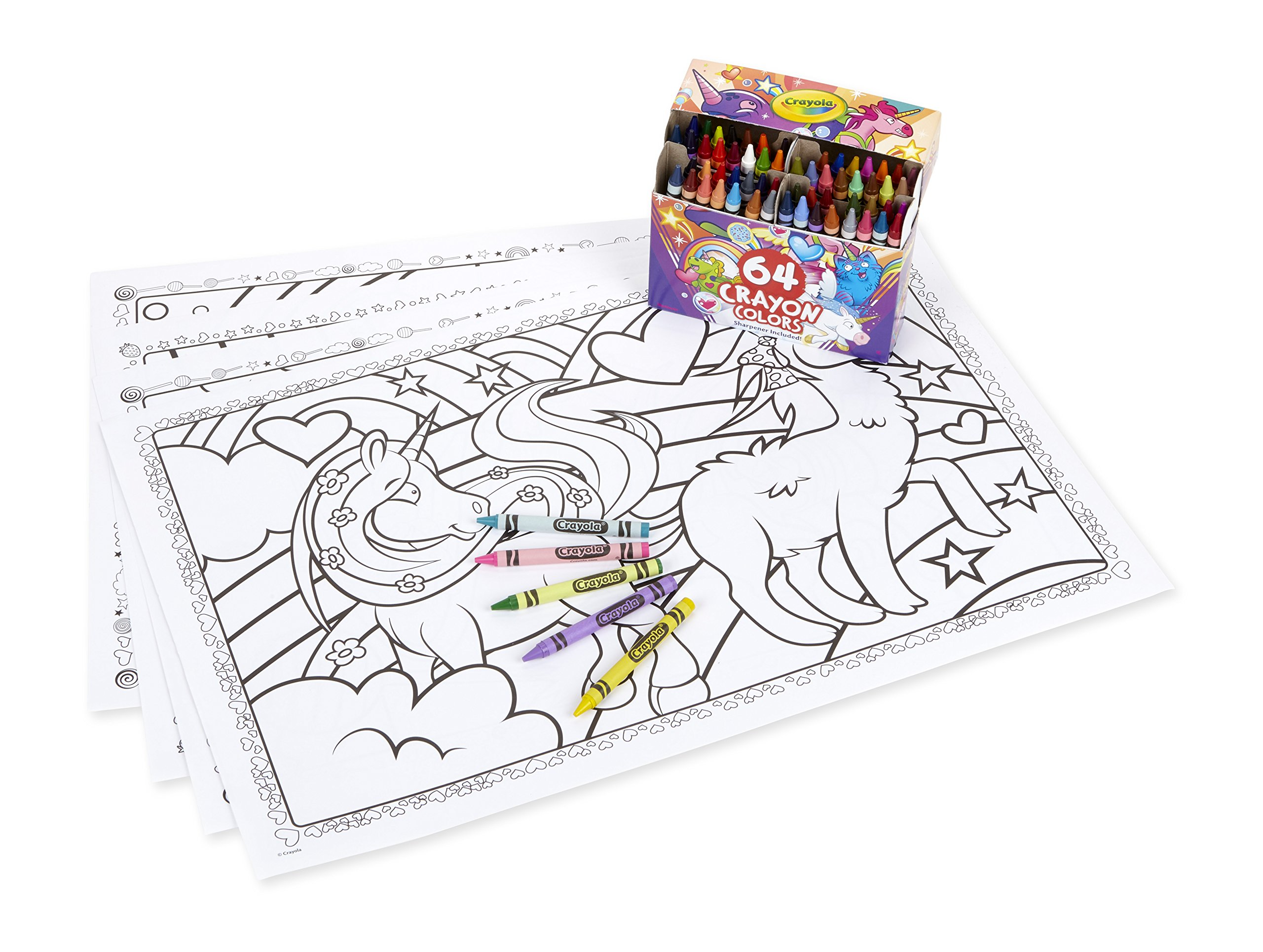 Crayola Uni-Creatures Coloring Pages With Custom Crayon ...