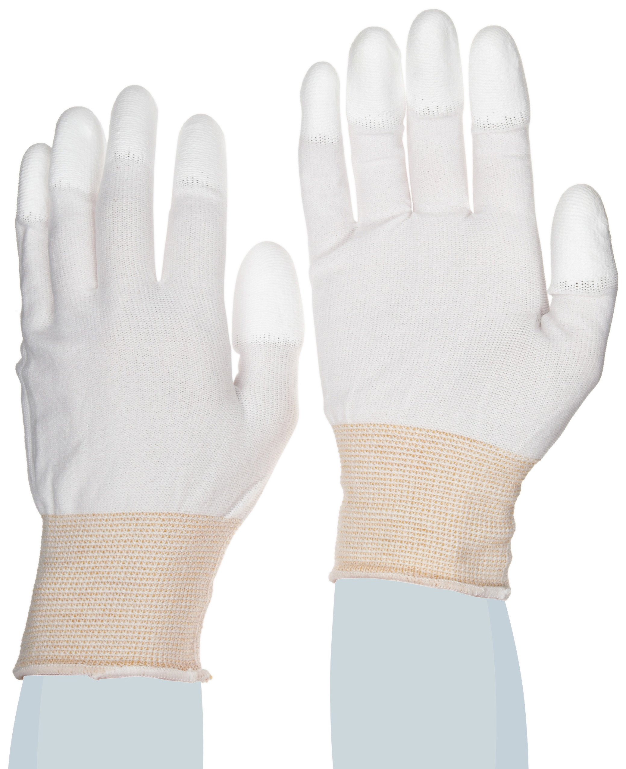 SHOWA BO600 Polyurethane Fingertip Coating Glove, 13-Gauge Engineered Nylon Liner, Small (Pack of 12 Pairs)