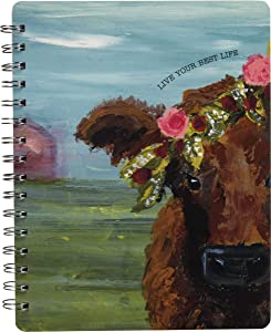 """Primitives by Kathy Friendship Heart Gallery Spiral Notebook, 7"""" x 9"""", Live Your Best Life"""