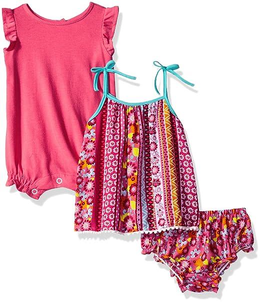 Amazon.com: Youngland para bebé niña 3 pc Set, Knit Creeper ...