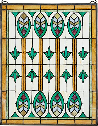 Stained Glass Panel – Elmslie Arts and Crafts Stained Glass Window Hangings – Window Treatments