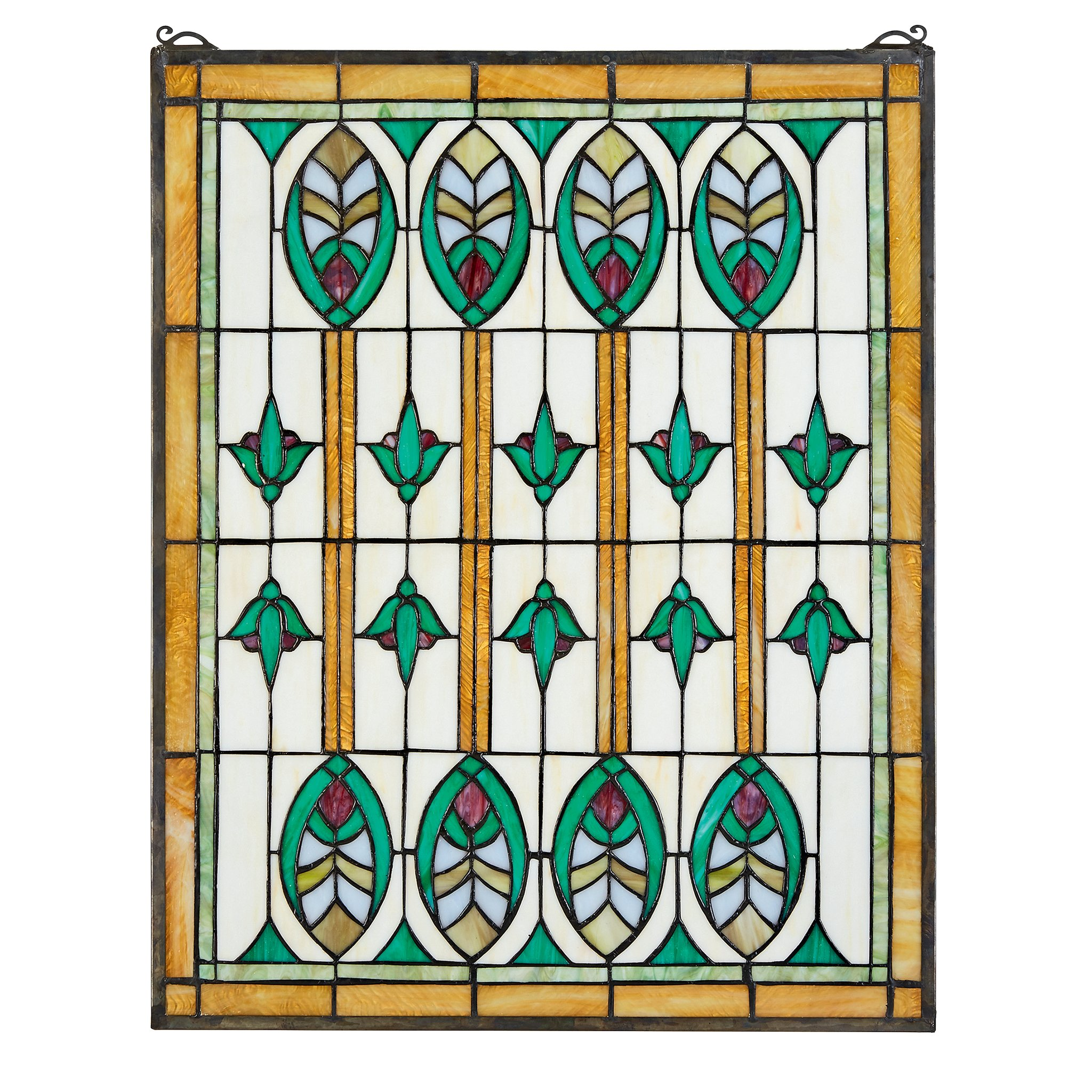 Stained Glass Panel - Elmslie Arts and Crafts Stained Glass Window Hangings - Window Treatments