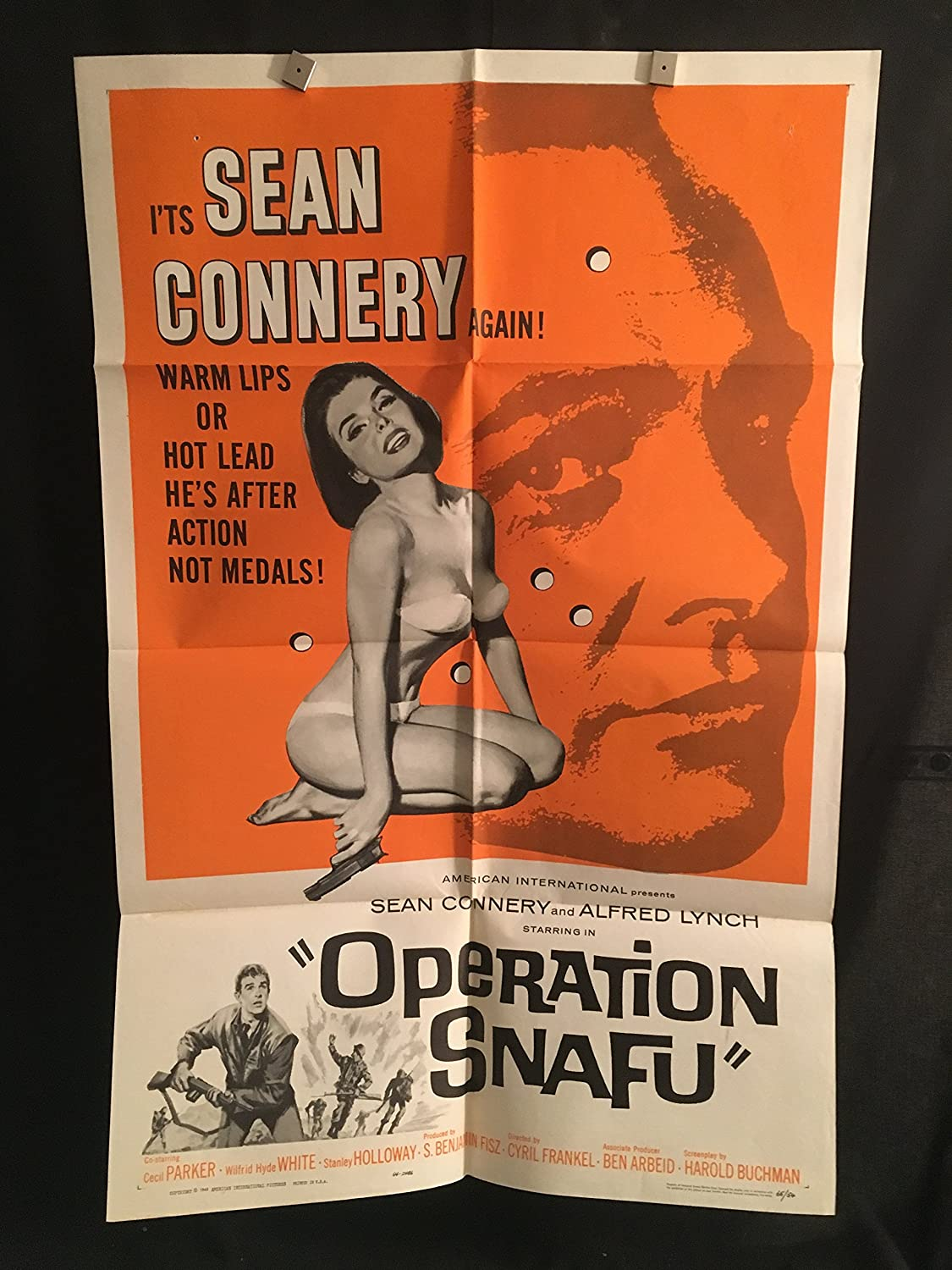 Operation Snafu 1965 Original Vintage One Sheet Movie Poster, Sean