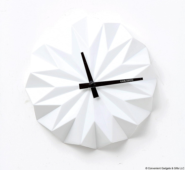 Karlsson Origami Ceramic Wall Clock Grey