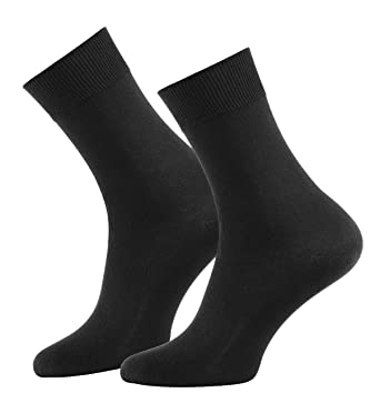 b04d6837fe816 Lot de 10 paires de chaussettes - 100 % coton - mailles lisses - homme -  noir - taille 39/42 - n° de l'article 71593: Amazon.fr: Vêtements et  accessoires