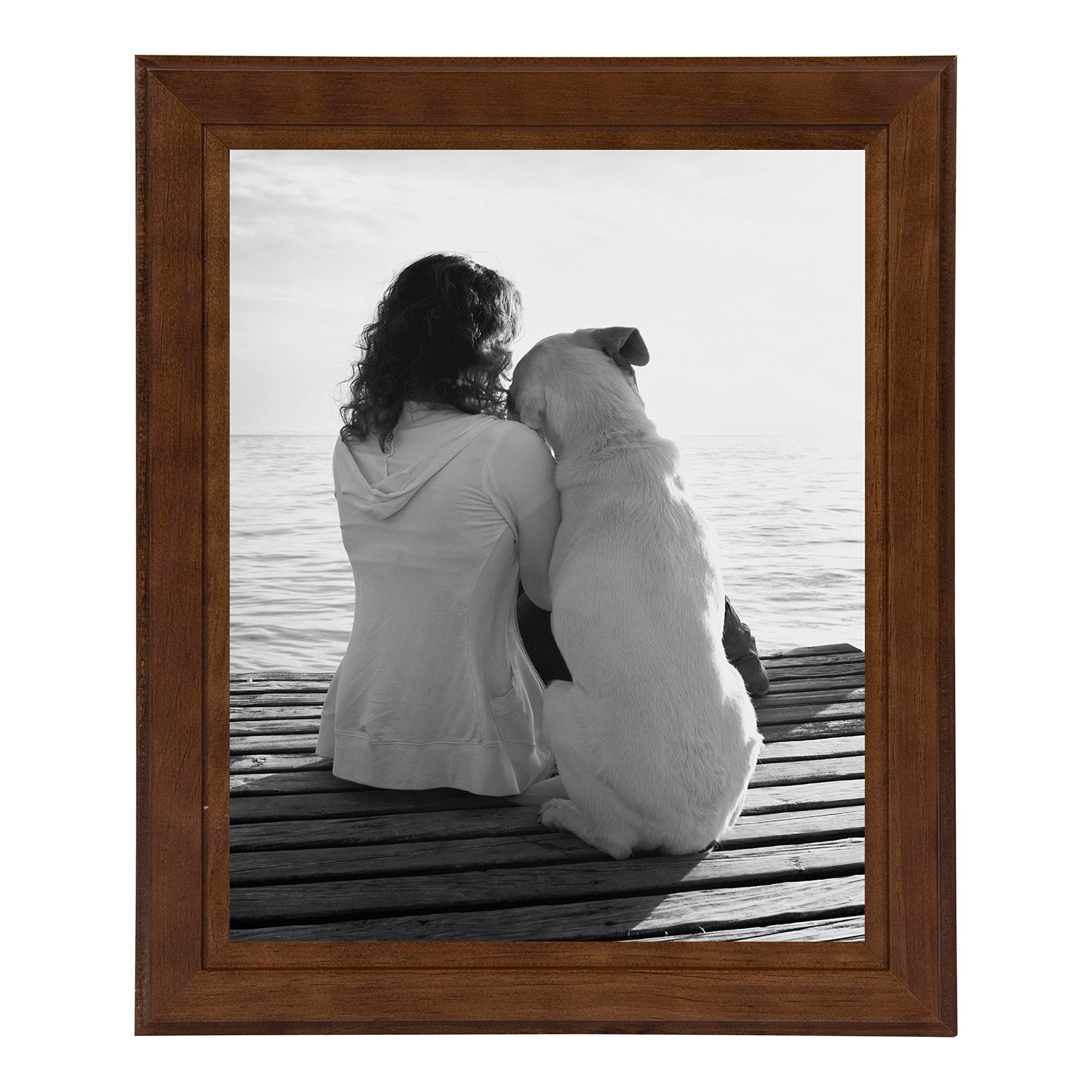 DesignOvation Kieva Solid Wood Picture Frames, Espresso Brown 8x10, Pack of 6 by DesignOvation (Image #2)
