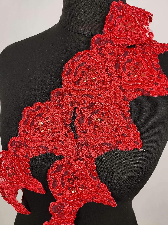 Black 5 Yards Beaded Lace Trim Sequinned Vintage Decorative Wedding//Bridal DIY Craft Sewing Coloured Fabric Trim TR3