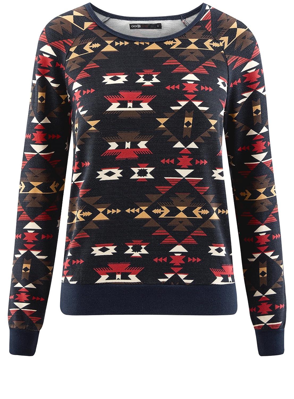 oodji Ultra Femme Sweat-Shirt avec Print /Éthnique