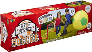 POOF My 1st Sports Soccer Set with 5.5-Inch Foam Soccer Ball and PVC Framed Goal Net