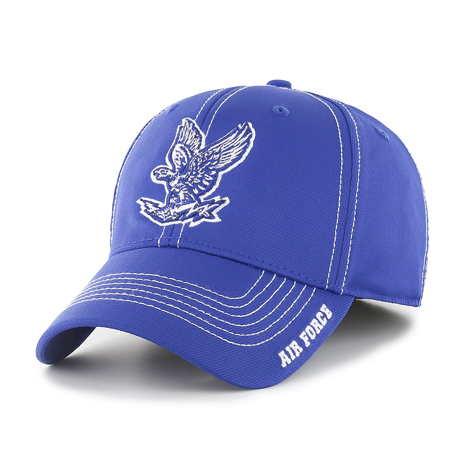 b033e04ac81 Amazon.com   OTS NCAA Adult Men s NCAA Start Line Center Stretch Fit Hat    Sports   Outdoors