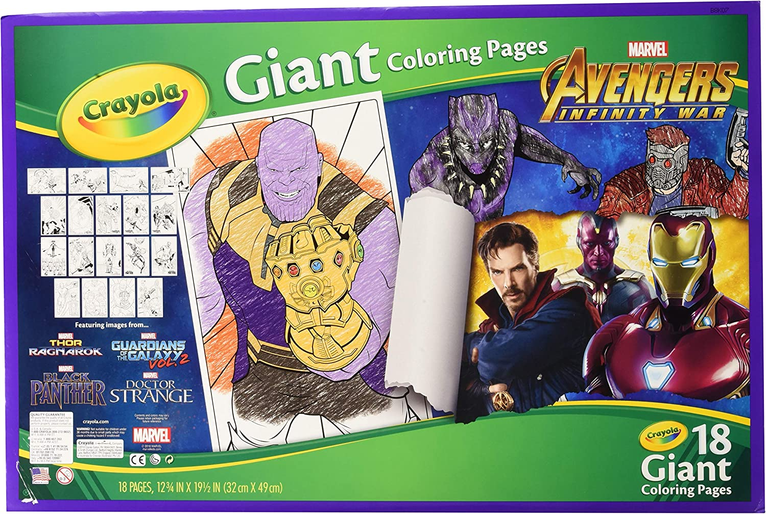 Amazon Com Crayola Avengers Infinity War Giant Coloring Pages
