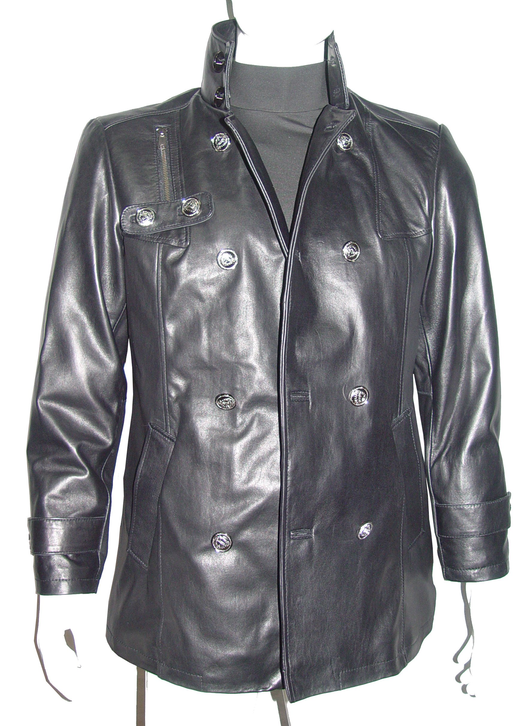 Nettailor 2039 Fine Leather Pea Coat Fashion for Men Large Size All Size
